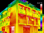 vista edificio termografia