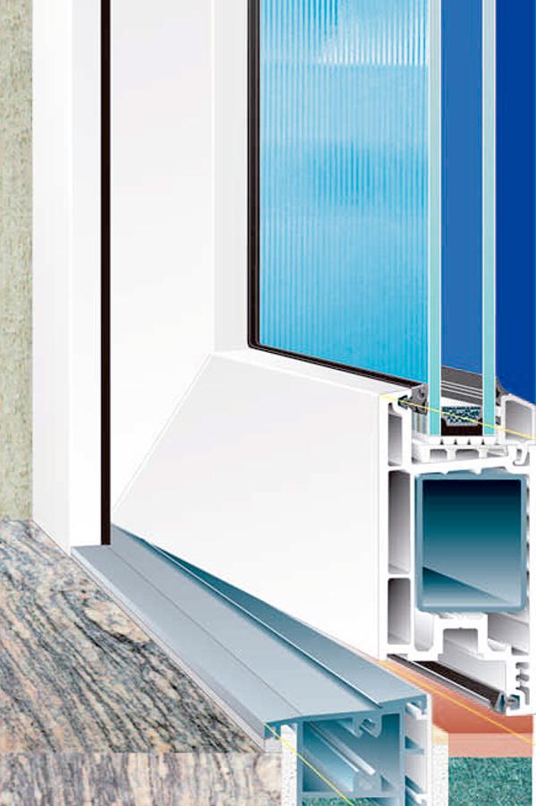 Seccion puerta entrada optimus onventanas ventanas que for Aislar puerta entrada