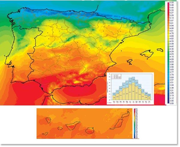 radiación-solar-españa