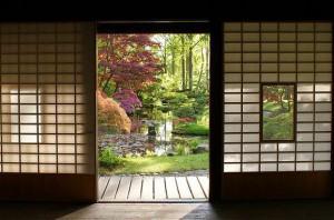 Antigua ventana japonesa
