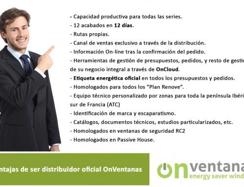 Ventajas de ser Distribuidor Oficial OnVentanas