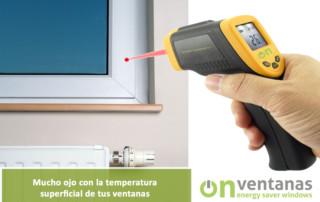 temperatura superficial ventanas