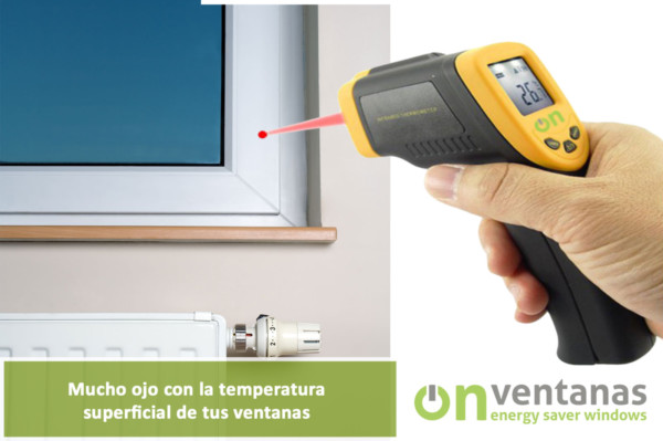 temperatura superficial ventanas