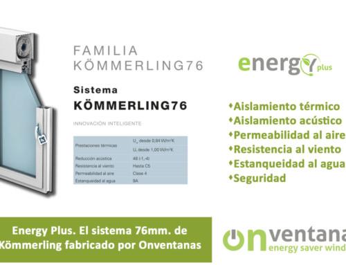 Sistema 76 de Kömmerling fabricado por OnVentanas