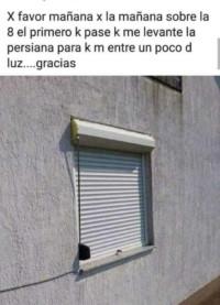 ventana humor cajón persiana