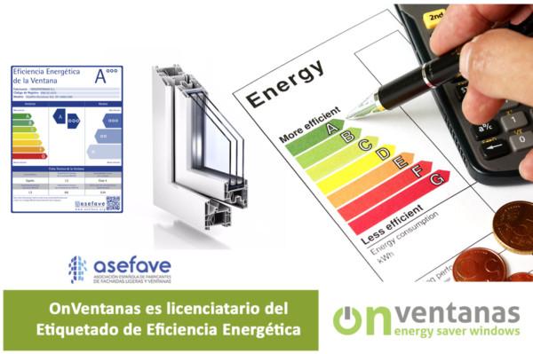 licenciatario etiqueta energética ventana