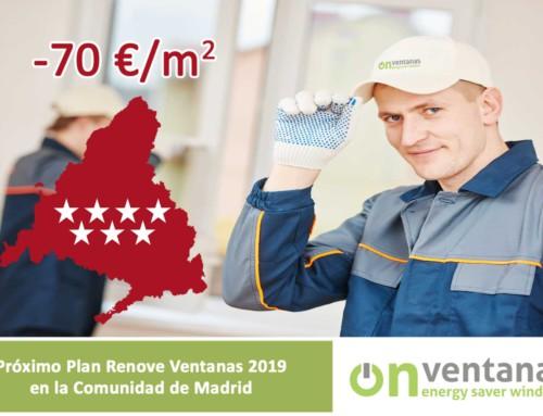 Nuevo Plan Renove Ventana Comunidad de Madrid 2019