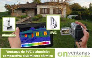 Comparativa PVC aluminio aislamiento