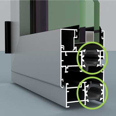 Perfil aluminio rotura de puente térmico