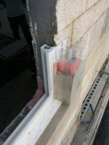 detalle instalación ventana