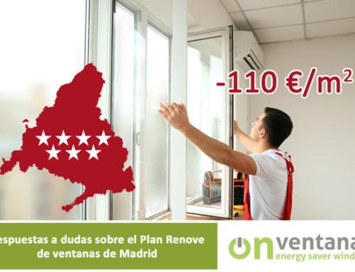 Respuestas a dudas del Plan Renove Ventanas Madrid
