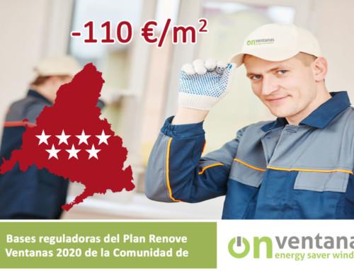 Nuevo Plan Renove Ventanas Comunidad de Madrid 2020