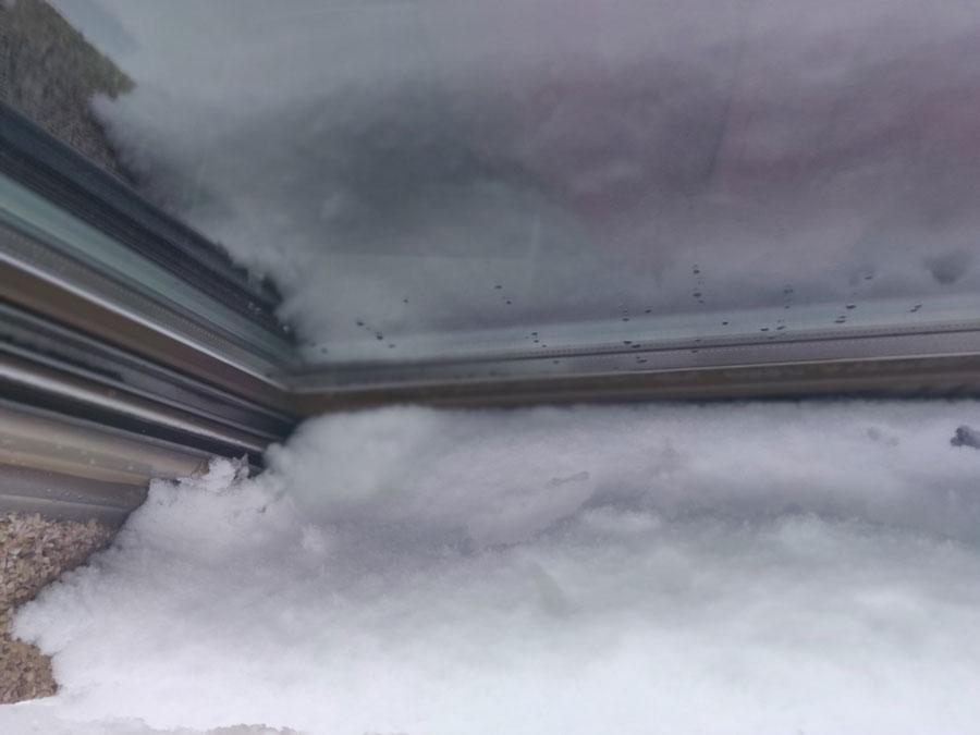 Nieve ventanas exterior