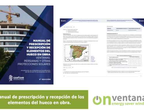 Manual de prescripción y recepción de ventanas
