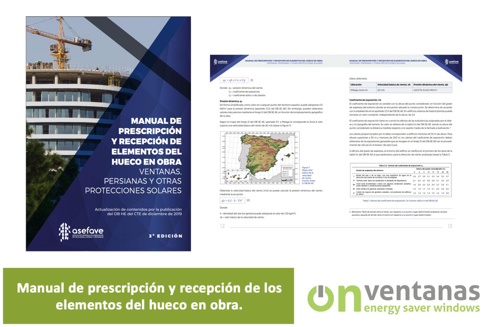 Manual prescripción recepcion-ventanas obra