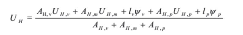 transmitancia térmica fórmula ventana cajón