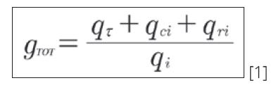 Flujos energía fórmula
