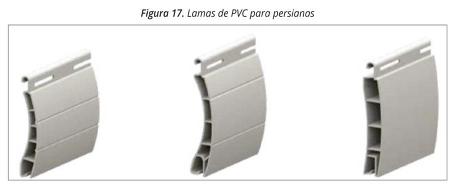 Figura 17. Lamas pvc persianas