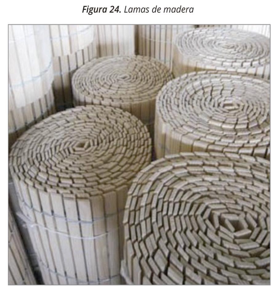 Figura 24. Lamas de madera