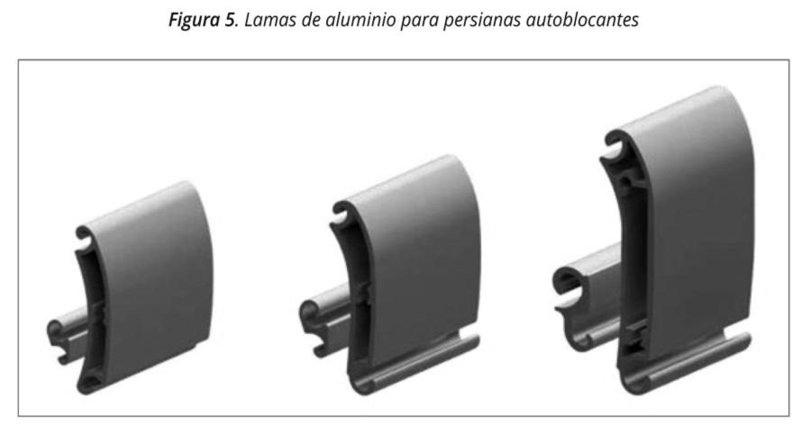 Figura 5. Lamas de aluminio