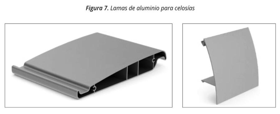 Figura 7 lamas de aluminio celosias
